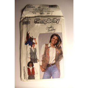 UNCUT Simplicity 0640 / 9373 pattern vests